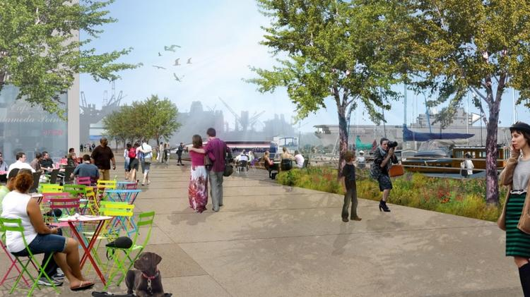 The plan calls for a promenade, among other public space at Alameda Point.