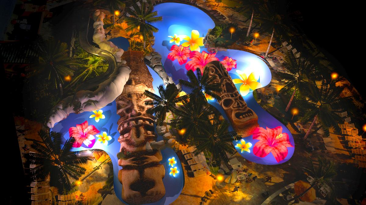 Sheraton waikiki to launch twice daily 3d light show for Pool light show waikiki