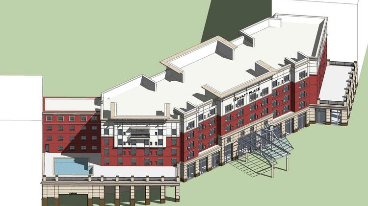Greensboro developer Roy Carroll is planning a Hyatt Place at North Eugene and Bellemeade streets.