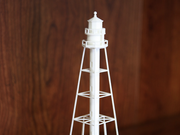 A 3D-printed replica of the 130-year old Cape San Blas Lighthouse.