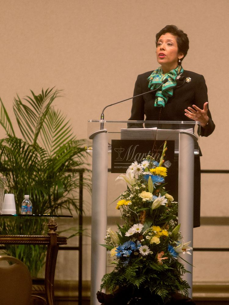 Anna Maria Chavez, CEO of Girls Scouts of the USA, speaks at the Baltimore Business Journal's Enterprising Women event Aug. 1.
