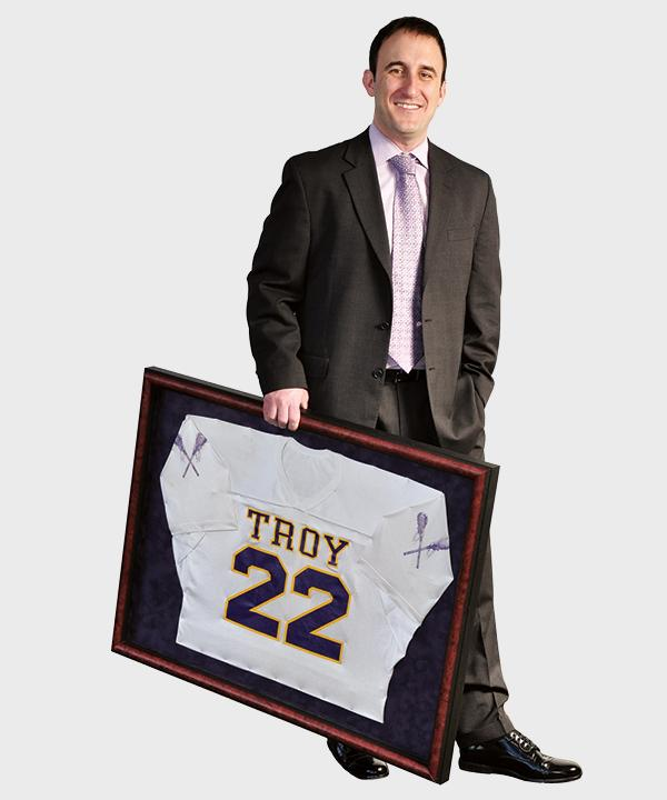 """Conway played lacrosse at Troy High School, and later at Siena College. """"I was captain of my lacrosse teams and that's part of where I started to learn about leadership,"""" he says."""