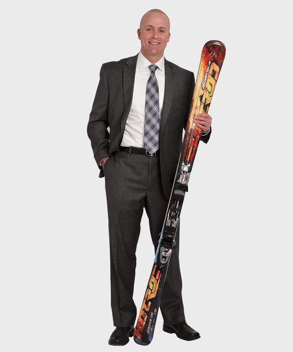 Curley is a self-described sports junkie; skiing is a big hobby.