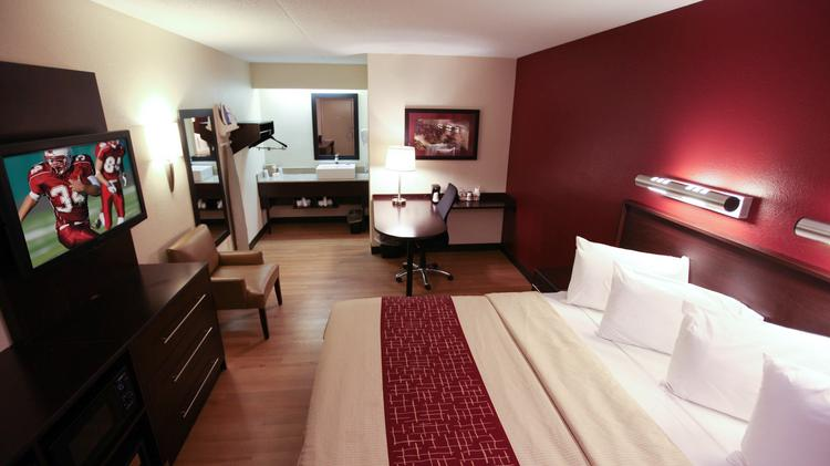 An interior view of the upgraded Red Roof Inn.