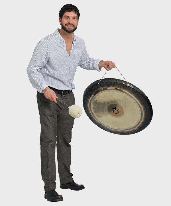 Pavoldi has been co-conducting an experimental/ meditation sound group that employs a variety of gongs.