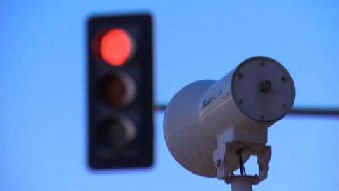 Abington Township has flipped on its first red-light camera.