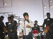 """Get on Up"" profiles an otherworldly musical talent with very human flaws: the inimitable James Brown (Chadwick Boseman)."