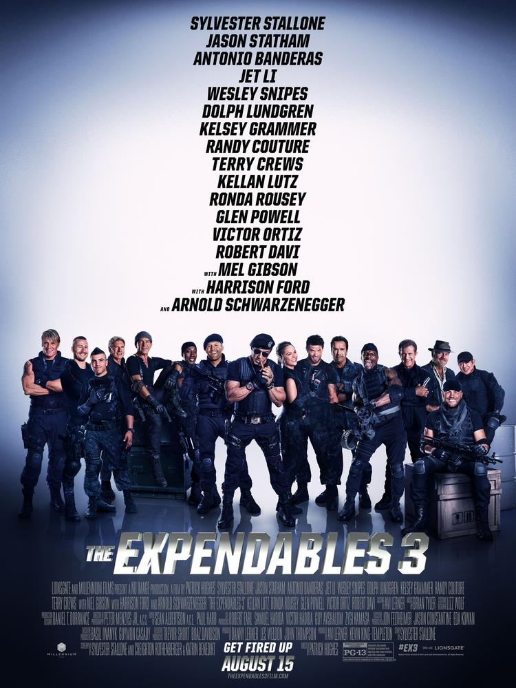 """A DVD-quality copy of """"The Expendables 3"""" hit torrent sites more than three weeks before the movie's theatrical release."""
