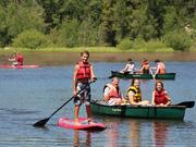 Kids at Camp Inc. also take part in traditional camp activities like camping, hiking, boating, stand-up paddle boarding and more.