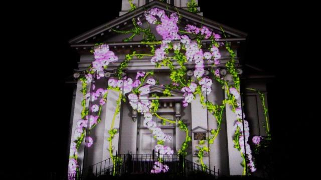 Paintscaping, 3D projection mapping company, will be projecting a spectacular light show on the façade of First Church, in Sandwich, as part of the town's 375th anniversary.
