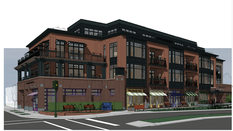 A group of Linden Hills neighborhood residents are opposed to developer Mark Dwyer's plans to add a fourth story onto his planned retail and condo building. The city approved the three-story version a year ago.