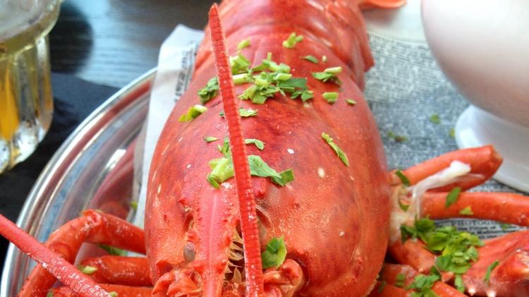 The two-pound lobster, part of a $25 Wednesday nights at Pearl's.