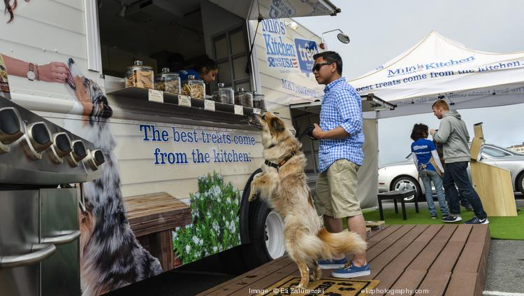 The treat truck will offer treats made of domestically-sourced chicken and beef with no artificial flavors or colors.