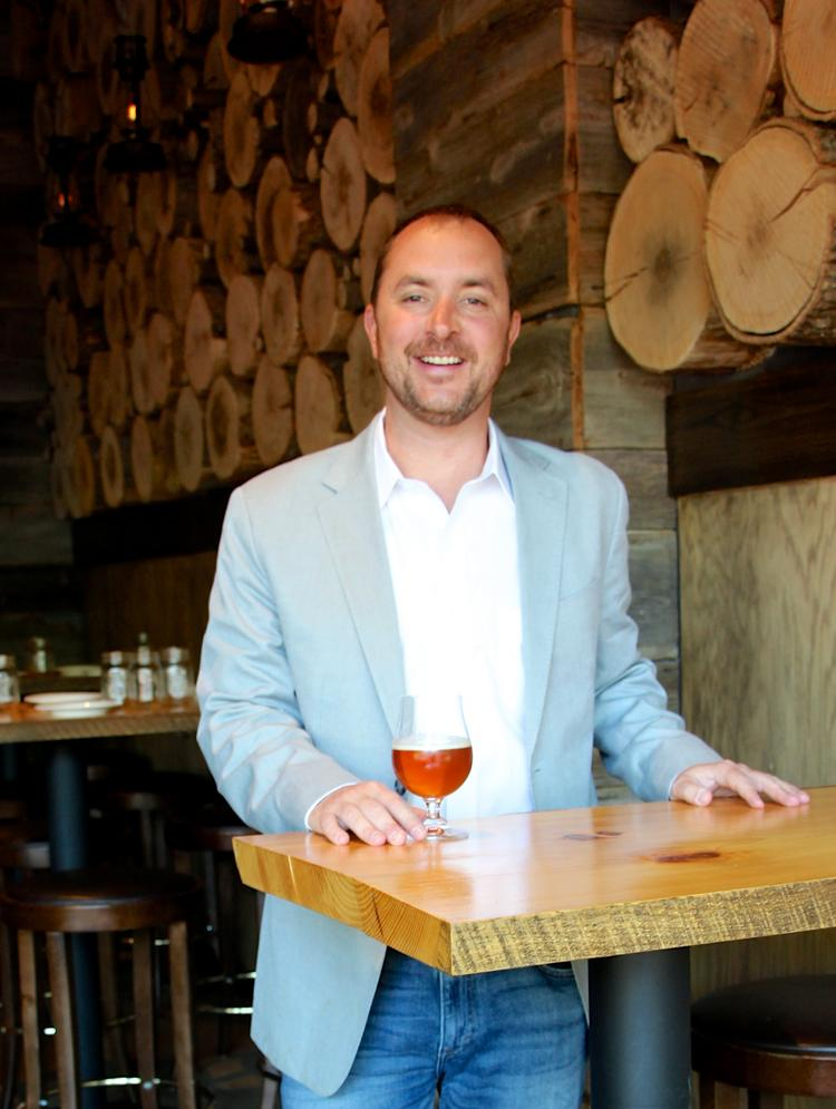 Reese Gardner at Copperwood Tavern, his Shirlington restaurant and bar. He plans to reprise the concept at One Loudoun next year.