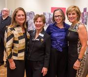 From left, past presidents of the Jewish Community Center of Greater Washington, Beth Sloan, Lesley Israel, Rosalyn Levy Jonas and Marcy Cohen.