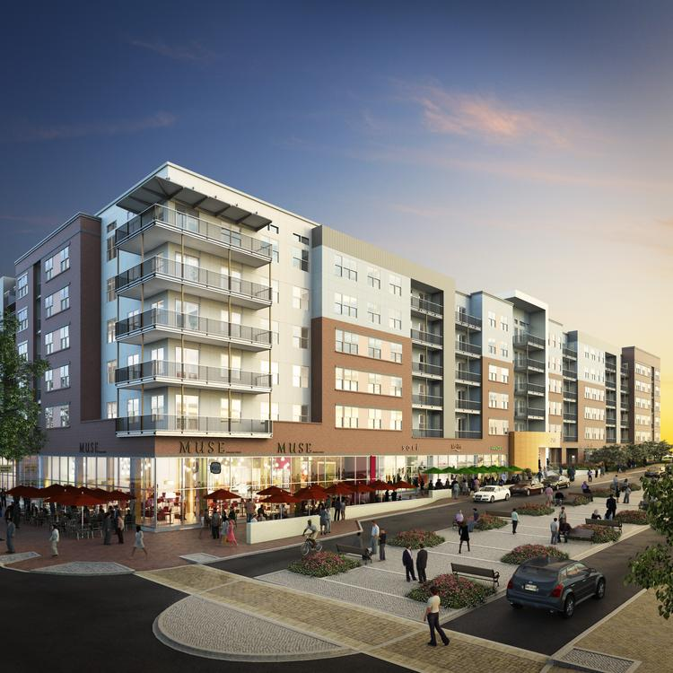 The Bozzuto Group and the Peterson Cos. plan to hold a groundbreaking ceremony Wednesday for the Esplanade, the first apartment building to be developed at National Harbor.