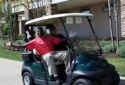 Touching Heart hosted its second annual Joy of Giving golf tournament at Lansdowne Resort on April 26. Former Washington Redskins player Darrell Green, left, and Greg Adgate of Equinix.
