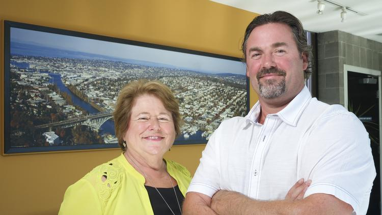 Fremont Dock Co. President Suzie Burke and son and company Vice President Michael Osterfeld shared family stories with the Business Journal, including how Google and other tech companies came to be in Fremont.