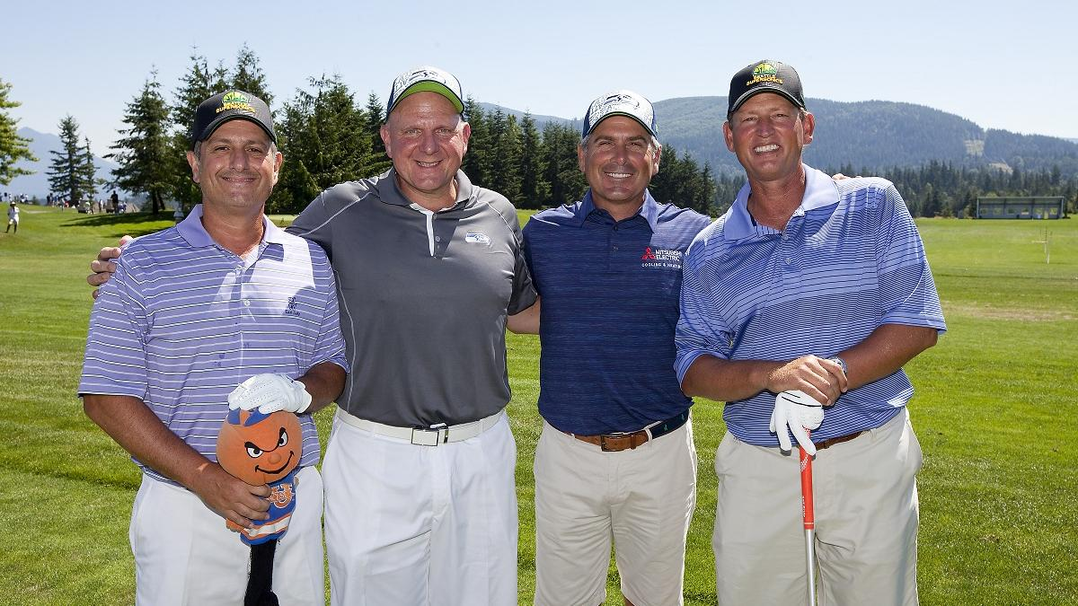 Fred Couples Steve Ballmer Win Charity Golf Warmup Event