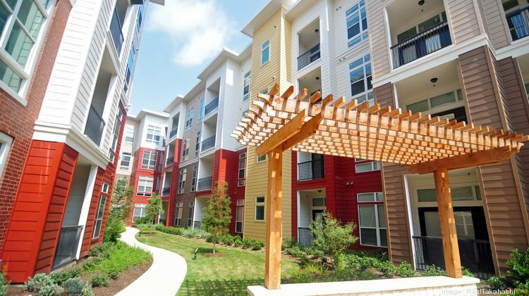 The Belvedere apartments, the first multifamily project built by Martin Fein Interests Ltd. in Springwoods Village, a master-planned community developed by CDC Houston.