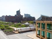 The green roof and patio atop the addition at 400 E. Pratt St. in downtown Baltimore.