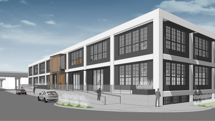 How the former PGE building, which software company Viewpoint is moving into, will look when construction is completed this fall.