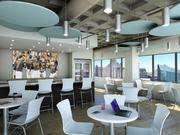 The entertainment and bar area designed as part of the new Ellin & Tucker Chartered headquarters at 400 E. Pratt St.