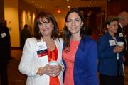 The Greater Reston Chamber of Commerce held its Virtual Realty Tour on April 19 at the Westin Washington Dulles Airport Hotel. More than 300 people attended. Among them were Diane Kennedy Holland, left, of Access National Bank and Ashley Hunter of the Greater Reston Chamber of Commerce.