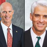 The grabber-natorial race: Who's funding Crist and Scott