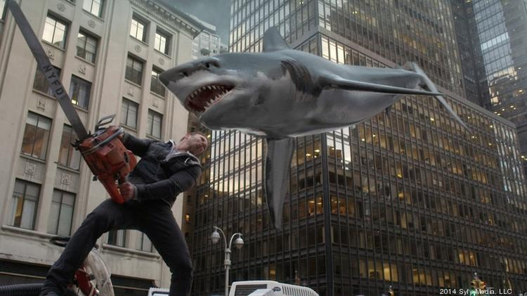 "Wednesday's premiere of ""Sharknado 2"" stormed to a record 3.9 million total viewers—the most ever for an original movie on Syfy."