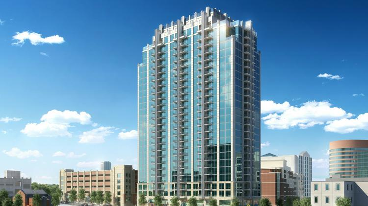 A Rendering Of The Skyhouse Tower Luxury Apartments Being Proposed For Midtown Nashville