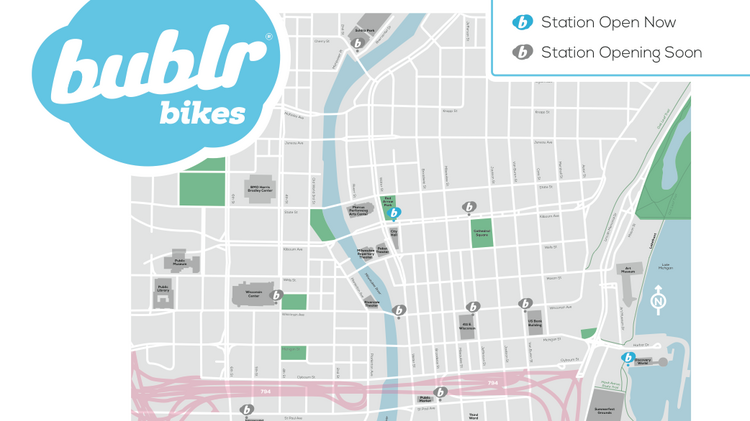 Bike Milwaukee Map Bublr Bikes