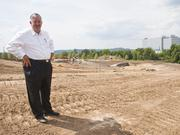 Pat Emery on location at the Franklin Park development in Cool Springs