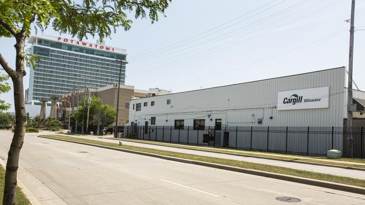 The Cargill plant is next to the Potawatomi Hotel &Casino in the Menomonee Valley.