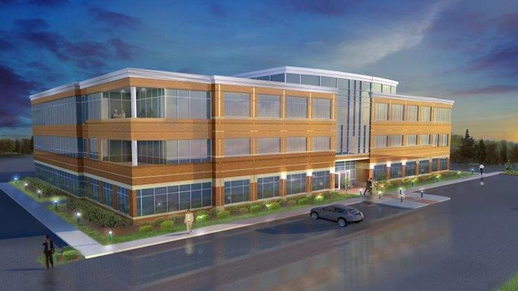 This is a rendering of the Pinnacle Corporate Centre V building in Leawood.