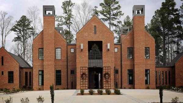 Construction of the new Chancellor's Residence at N.C. State University include brick products made by Durham-based Triangle Brick Co.