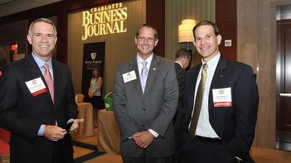 Pictured here at the CBJ's 2013 CFO of the Year awards are, from left: Randy Dickerson, Bank of America Merrill Lynch; David Houston, Fifth Third; and John Mercuri, Bank of America Merrill Lynch.
