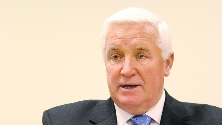 Gov. Tom Corbett, in a visit to the Pittsburgh Business Times in 2013, urged pension reform. Corbett reiterated it in a news conference July 10 in Harrisburg.