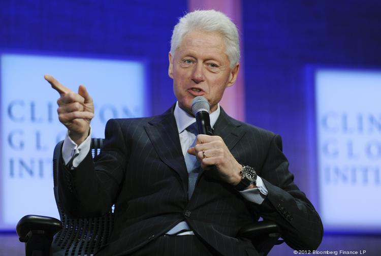 Former President Bill Clinton speaks at the Clinton Global Initiative in New York on Sept. 23, 2012.