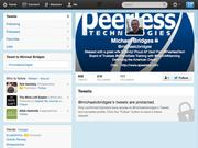Michael Bridges @michaelcbridges  111 Twitter Followers.  https://twitter.com/michaelcbridges    - The CEO of Peerless Technologies tweets about the Air Force, the defense industry, and his personal passion for fitness.