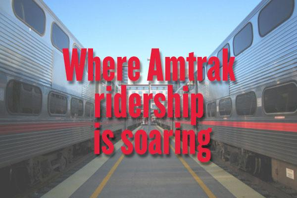 Ridership on Amtrak is soaring, especially in big metropolitan areas, a new study concludes. And Sacramento is seeing some of the most dramatic growth. A slideshow lists the top 10 largest Amtrak markets, ranked by ridership.