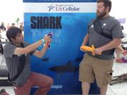 "Engineers Adam Cohen (left) and Jason Hilleshiem designed a game called MagneTag, which they pitched to ABC's show ""Shark Tank."""