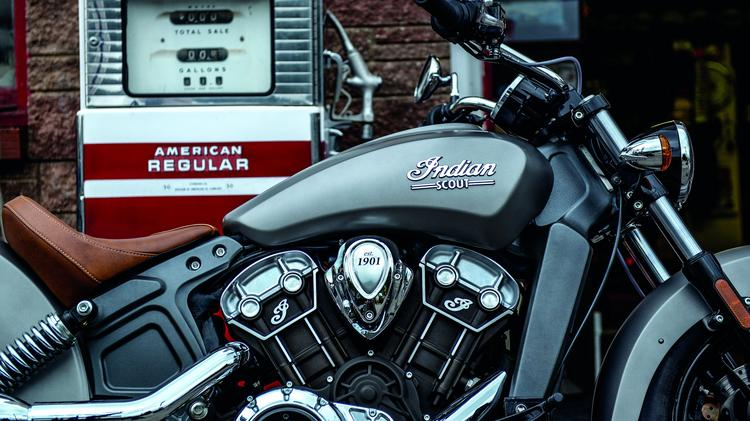 The 2015 Indian Scout retains some classic engine design elements from its storied past.