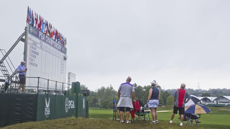 The leaderboards around the course are manned by volunteers in three-hour shifts.