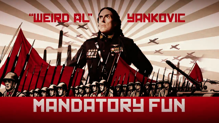 """RCA Records selected Kansas City-based Project Blackbird to produce four 15-second teaser clips with a propaganda twist to promote Weird Al Yankovic's latest album, """"Mandatory Fun."""""""