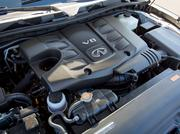 The V8 engine in the Infiniti QX80.