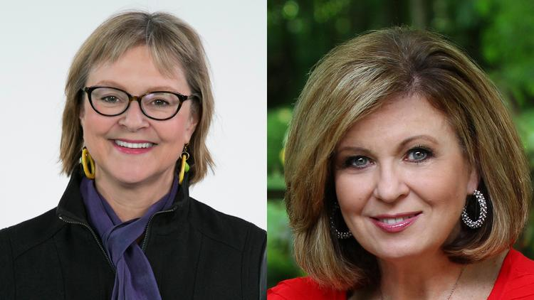 Ann Fisher, left, and Colleen Marshall will lead panel discussions at the Aug. 28 event.