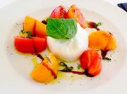 Fresh burrata and heirloom tomatoes