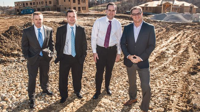 The NorthPoint Development executive team includes COO Chad Meyer (from left), CFO Brett Grady, CEO Nathaniel Hagedorn and Vice President Brent Miles.
