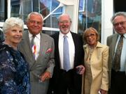 Major supporters at Aug. 8 cocktail reception for Speight Jenkins, the weekend he retired from heading Seattle Opera Left to right: Louise Miller, Fred Radke, Bruce McCaw, Gina Funes, Stafford Miller.